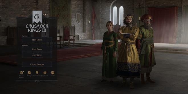 Menu principal de Crusader Kings 3