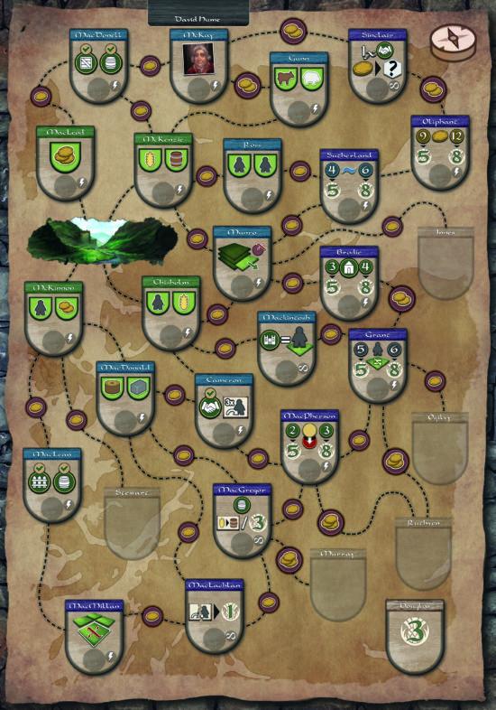 Carte Écosse Glen More II