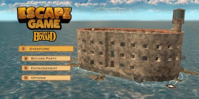 Menu principal du jeu Fort Boyard sur la Nintendo Switch.