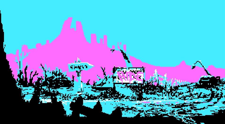 The Eternal Castle semble tout droit sorti des années 80 avec ses graphiques CGA en quatre couleurs
