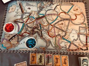 Mise en place solo Les Aventuriers du rail Europe