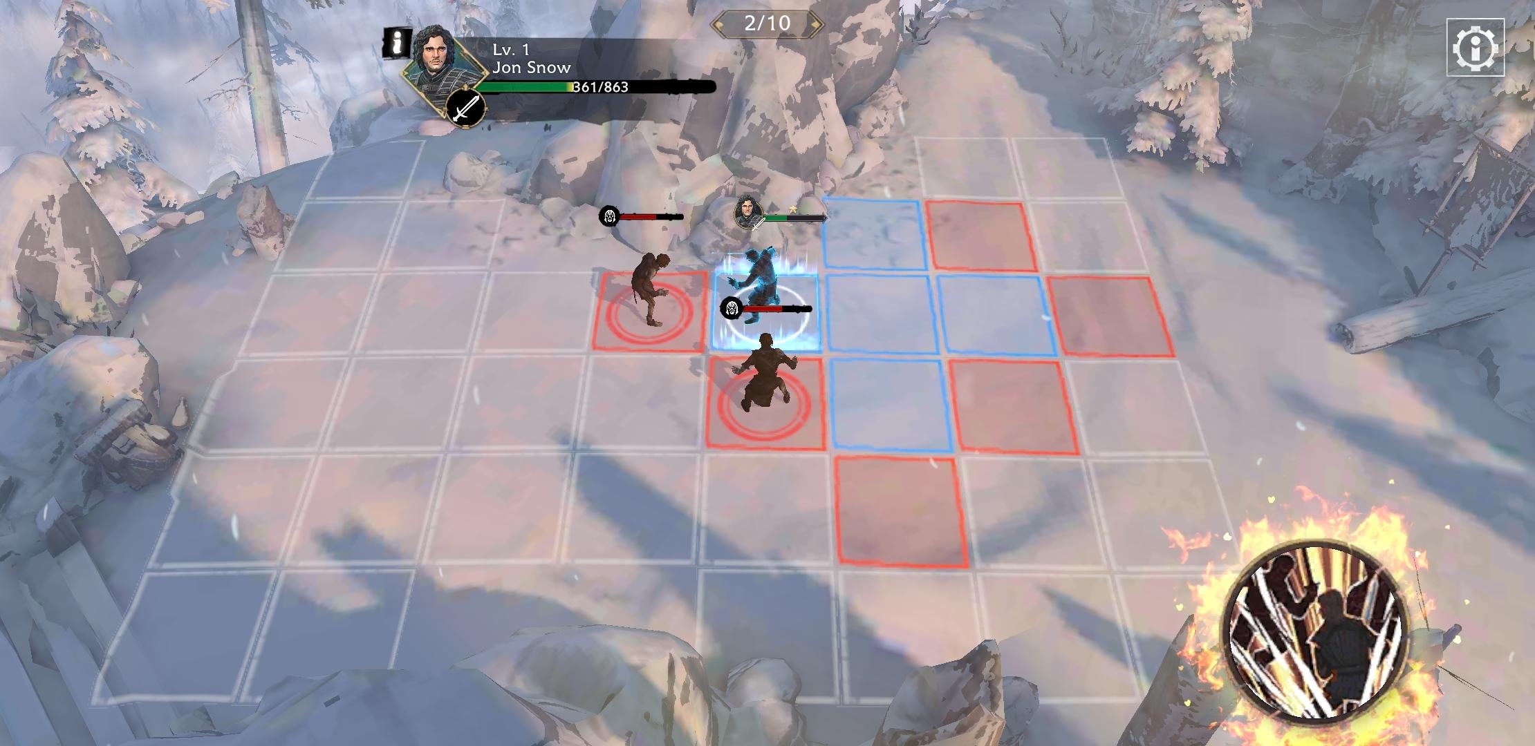 Les combats se déroulent en tour par tour et semblent être inspirés par la franchise Fire Emblem