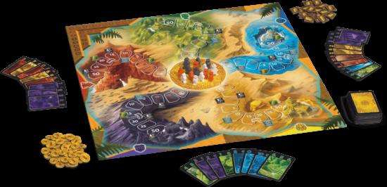 Mise en place du jeu Lost Cities : Le jeu de Plateau (2008)