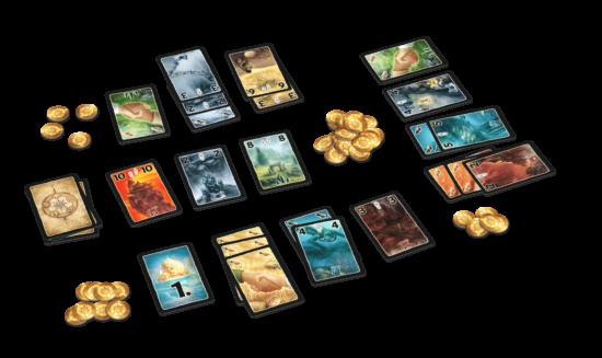 Mise en place du jeu Lost Cities : Les rivaux (2018)