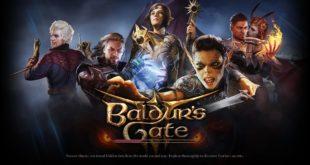 Écran principal du jeu Baldur's Gate 3.