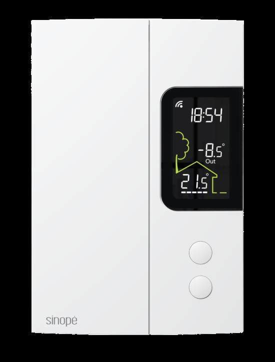 Thermostat Wi-Fi intelligent TH1123WF de Sinopé. Crédit photo : Sinopé
