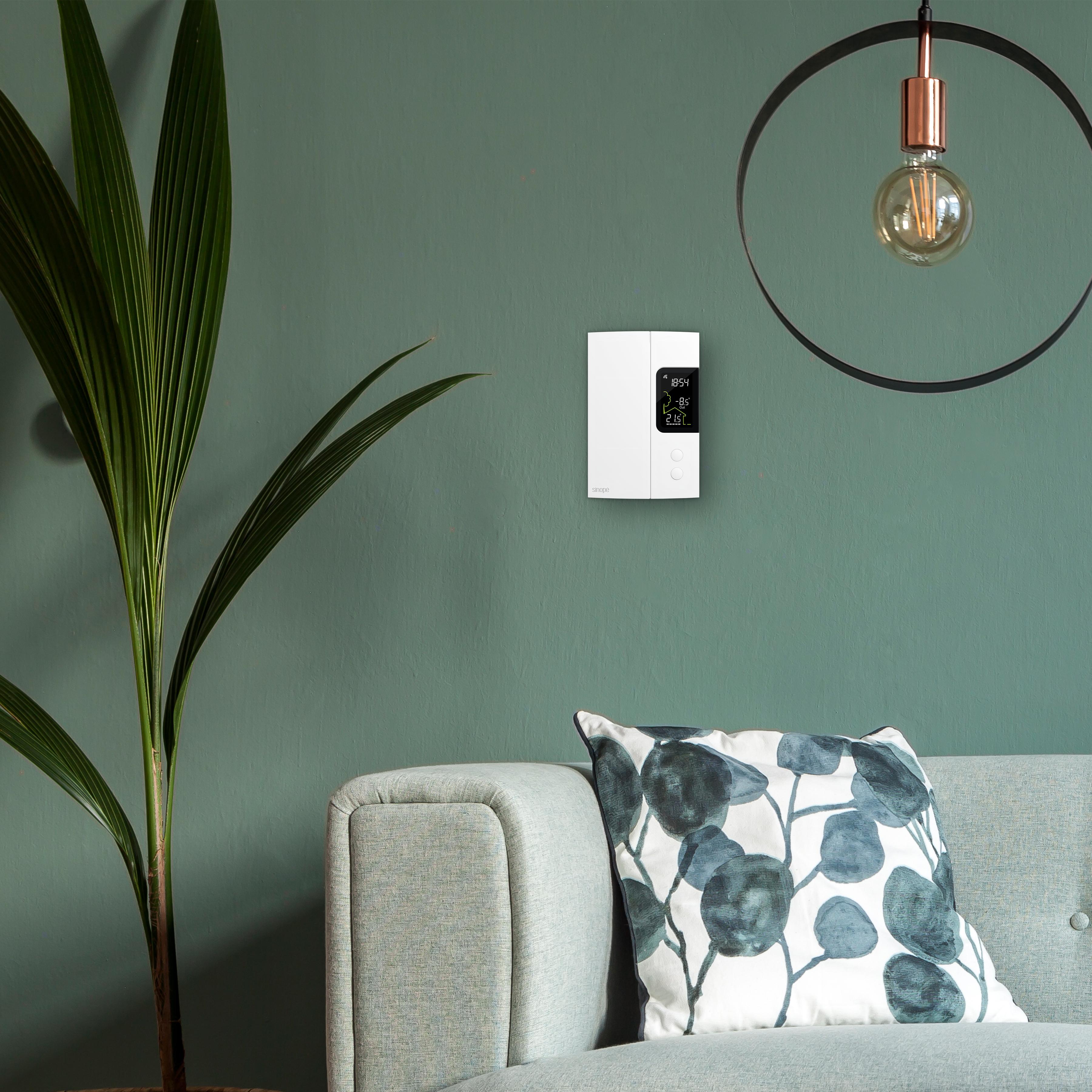 Thermostat Wi-Fi intelligent TH1123WF de Sinopé Technologie. Crédit photo : Sinopé