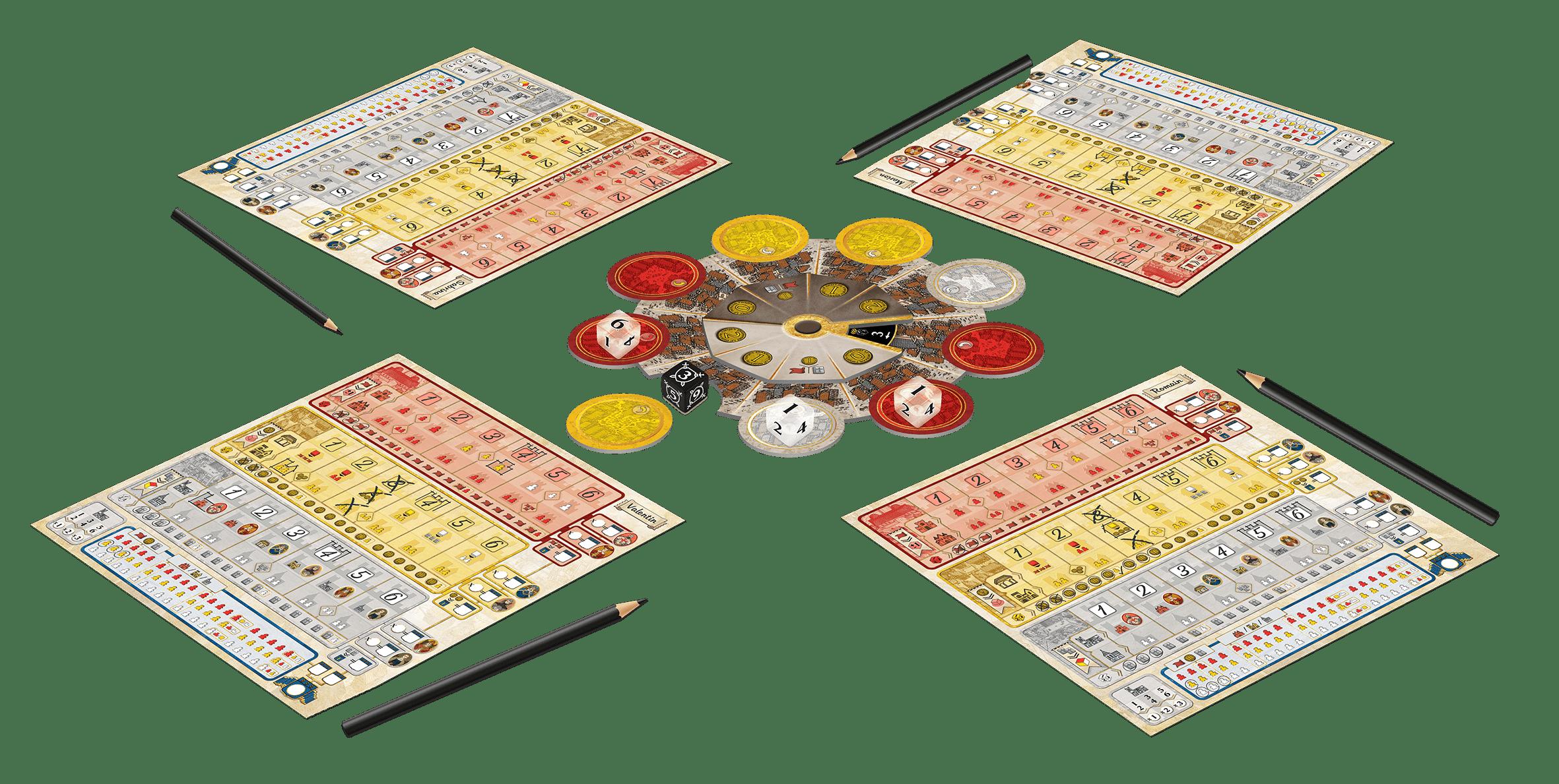 Troyes Dice partie 4 joueurs