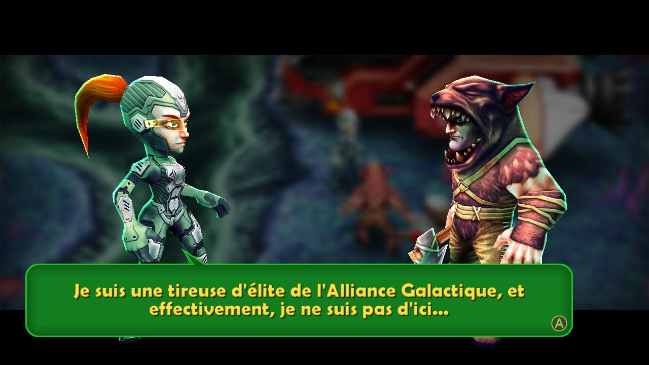 Rencontre avec la tireuse d'élite de l'Alliance Galactique.