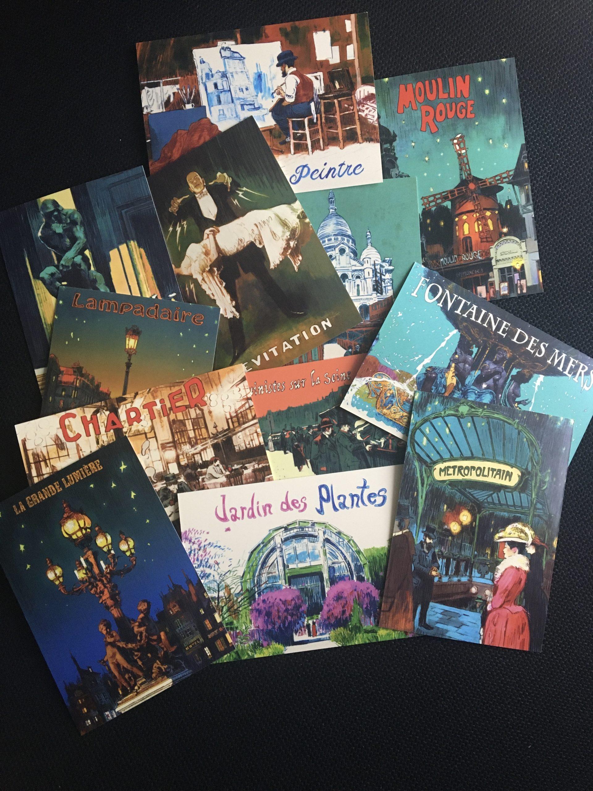 Paris Ville Lumière cartes postales