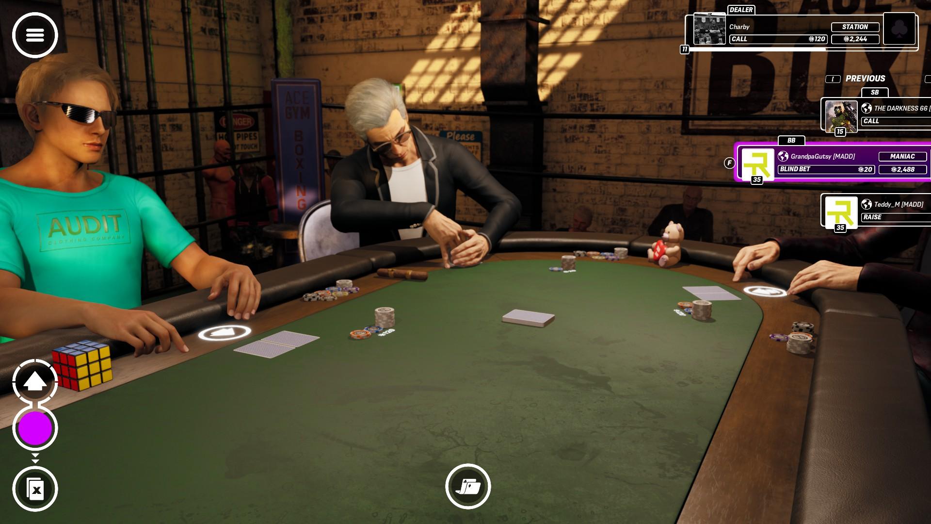 Plusieurs lieux sont disponibles au sein de Poker Club.