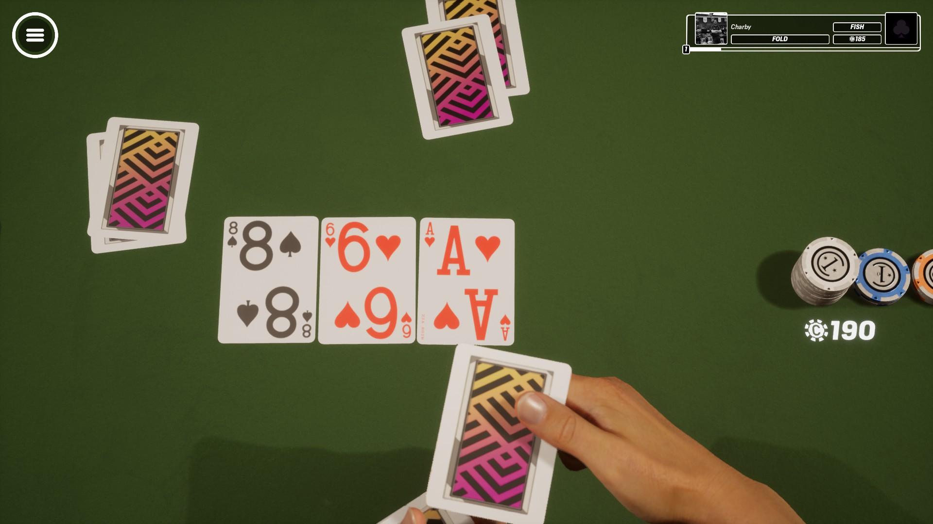 La vue est changé à chaque fois que de nouvelles cartes sont mises sur la table.