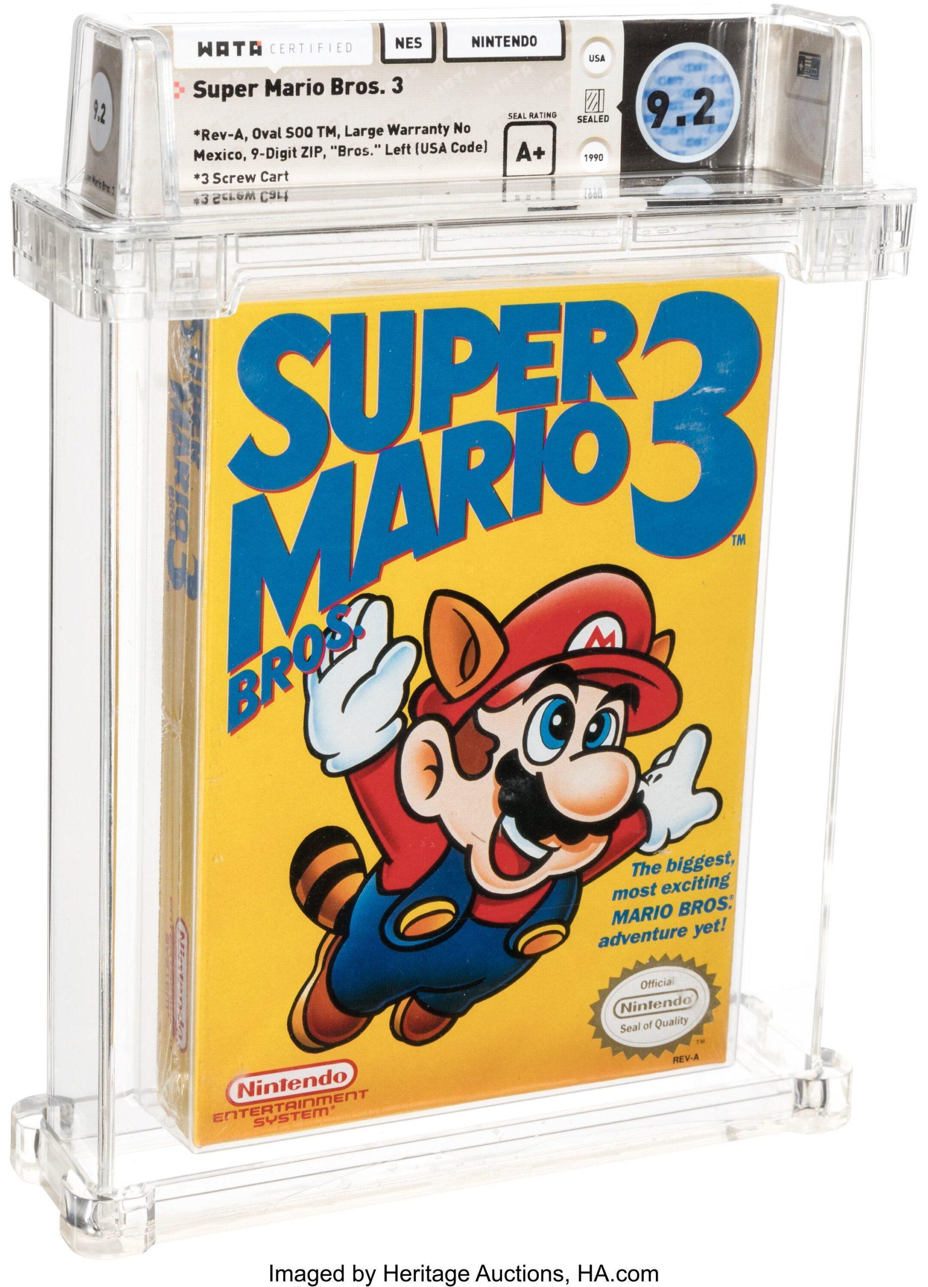 En plus d'être dans un excellent état, la copie du jeu se démarquait aussi par le titre imprimé différemment