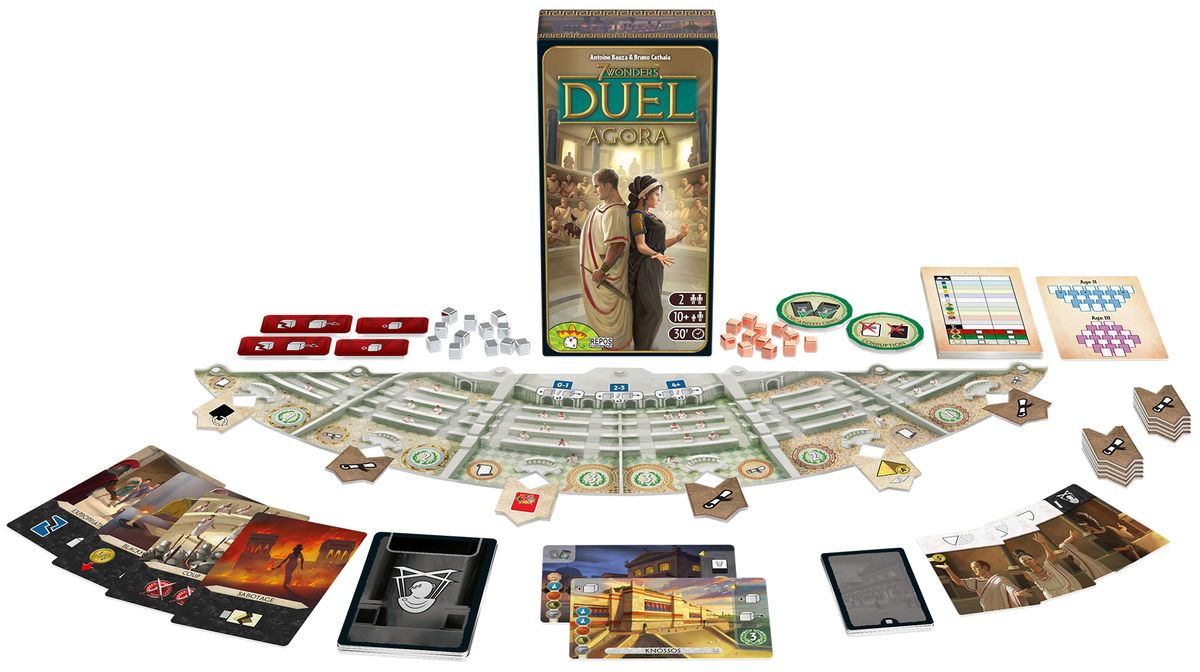7 Wonders Duel: Agora - matériel