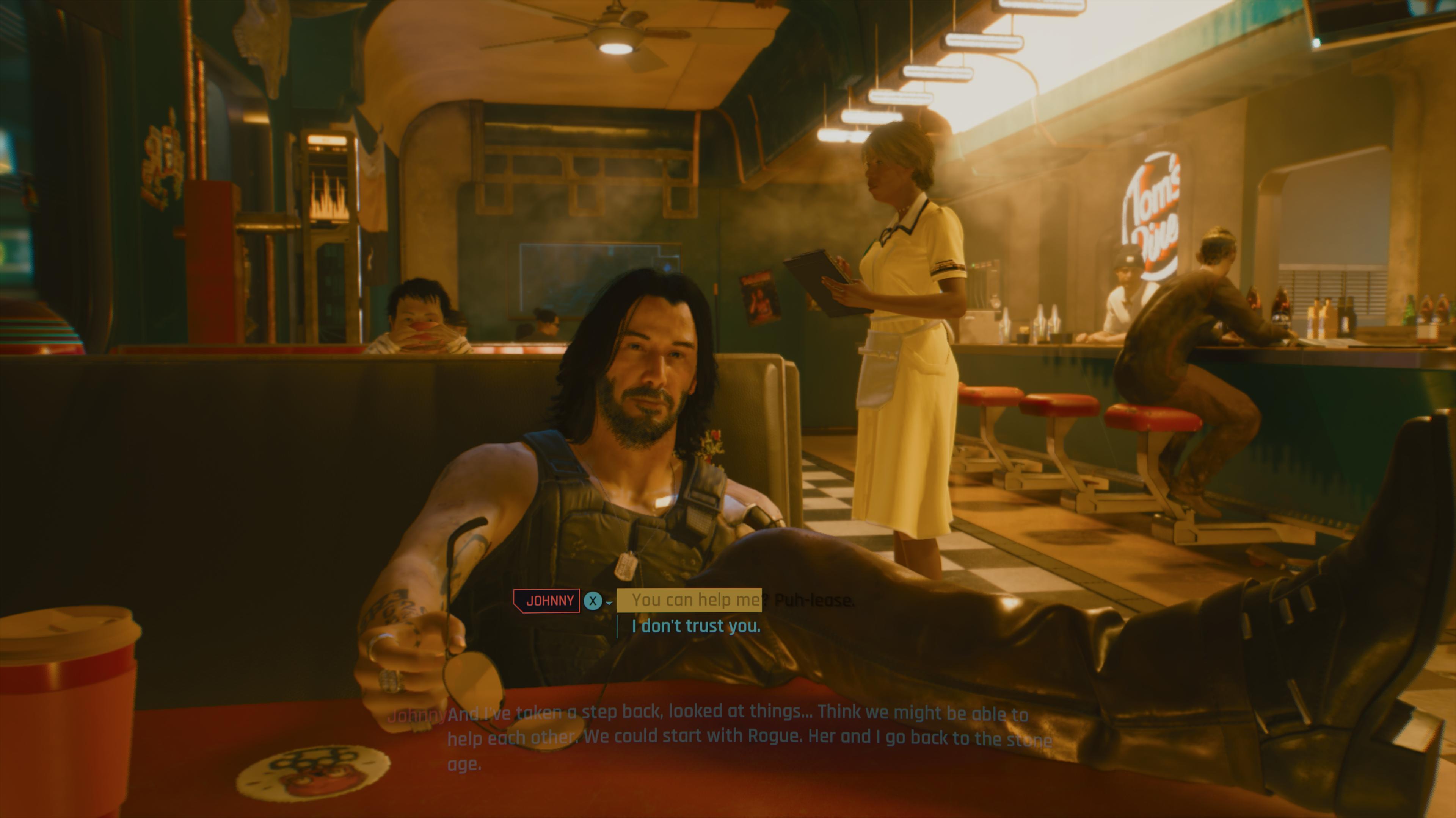 Keanu Reeves a un rôle très important dans le jeu et agit à titre de conscience pour le joueur