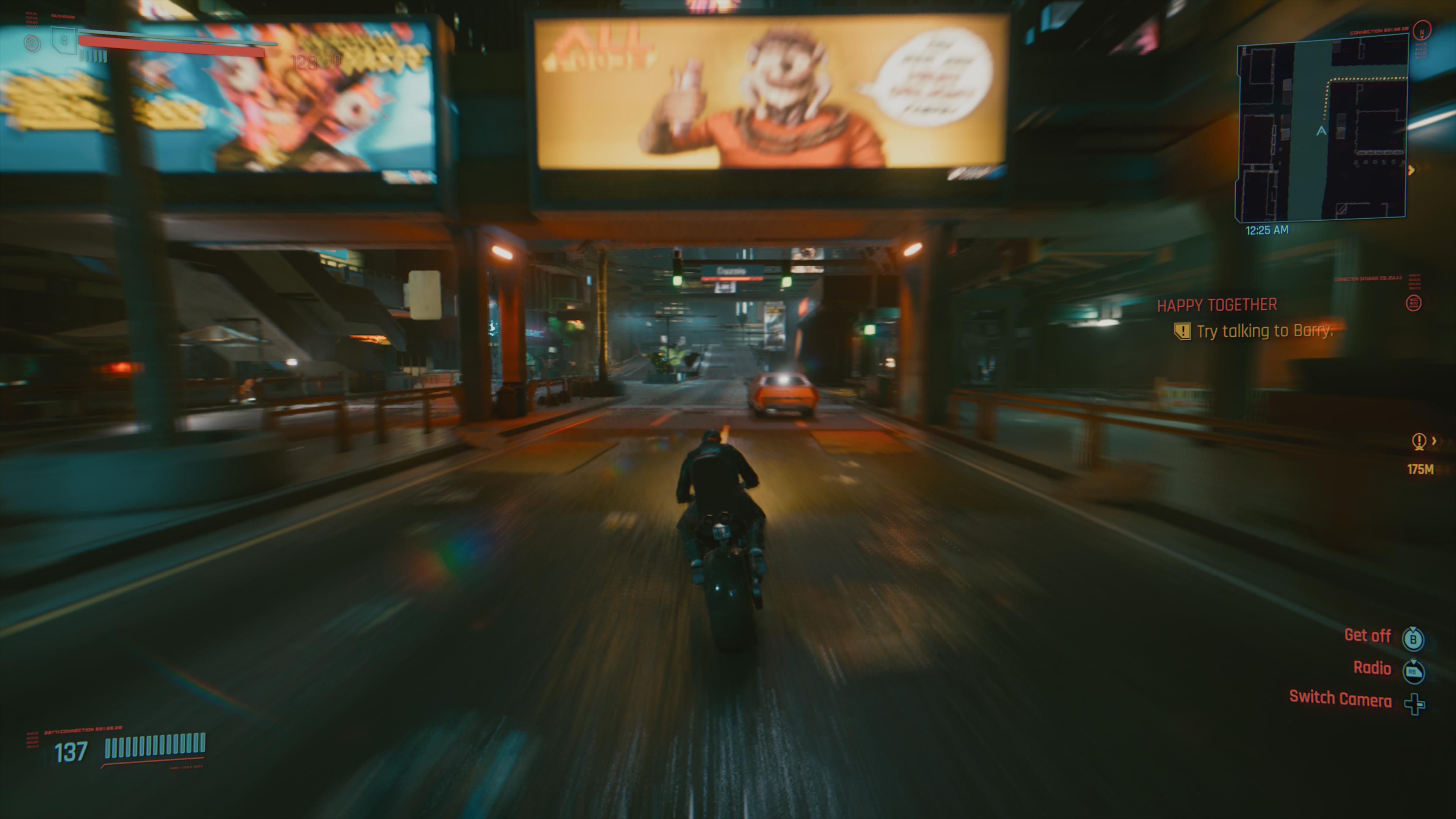 La conduite automobile est un élément important du jeu, mais optionnelle si le joueur opte pour le système de déplacement rapide