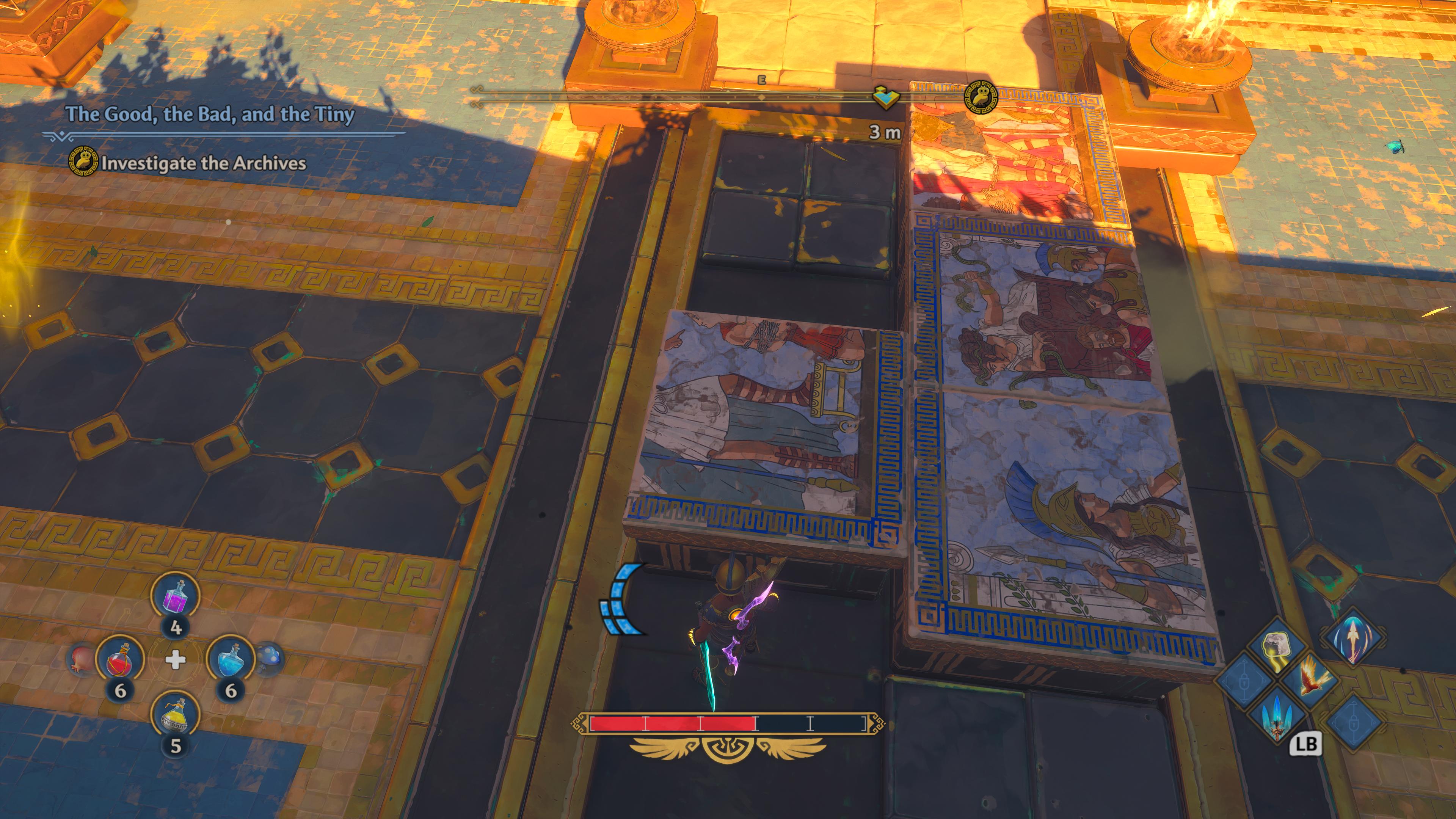 Résoudre un puzzle offre un peu de répit des combats incessants