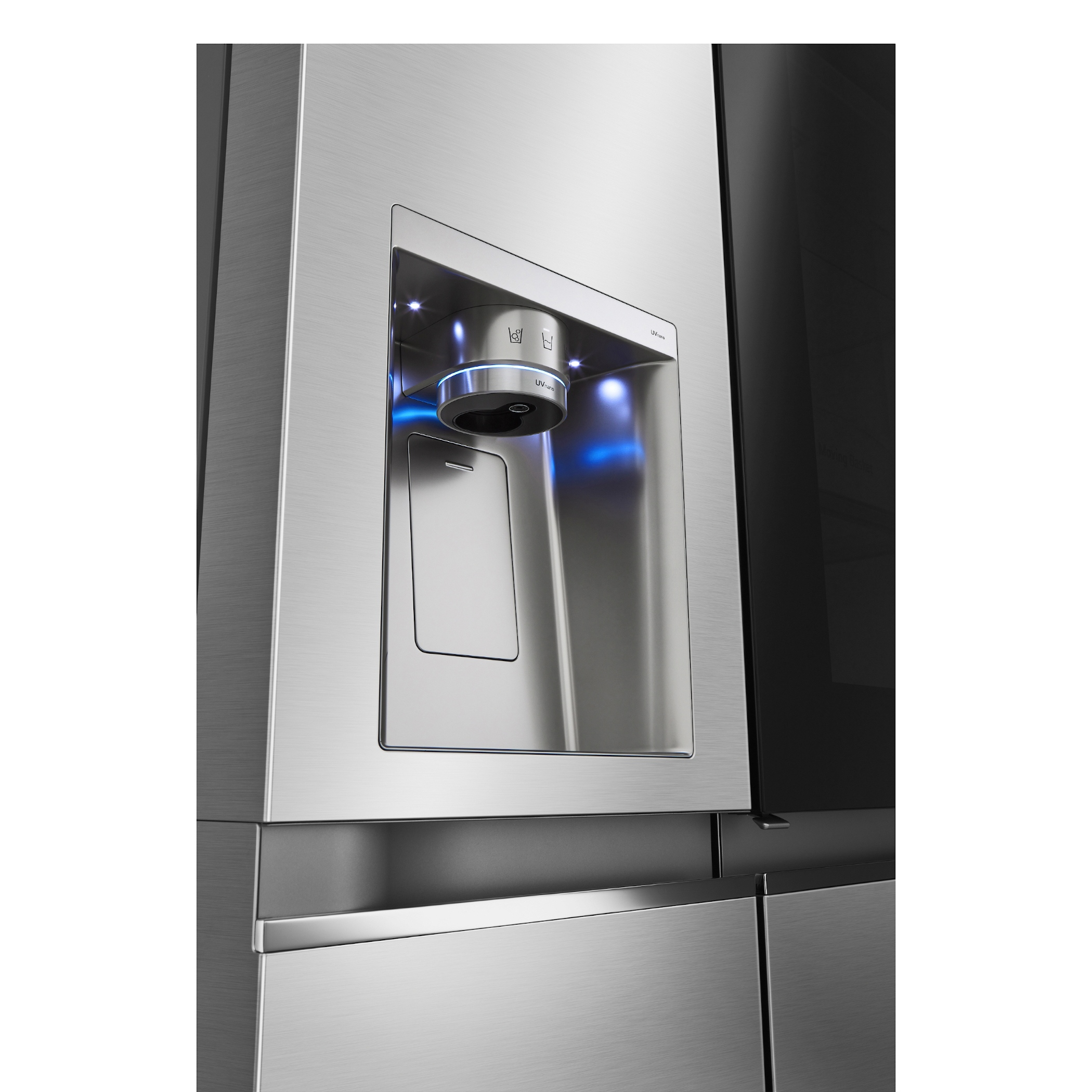 Éliminez jusqu'à 99,99% des bactéries présentes sur le distributeur d'eau avec le système UVnano