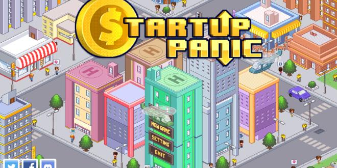 Écran de départ du jeu Startup Panic