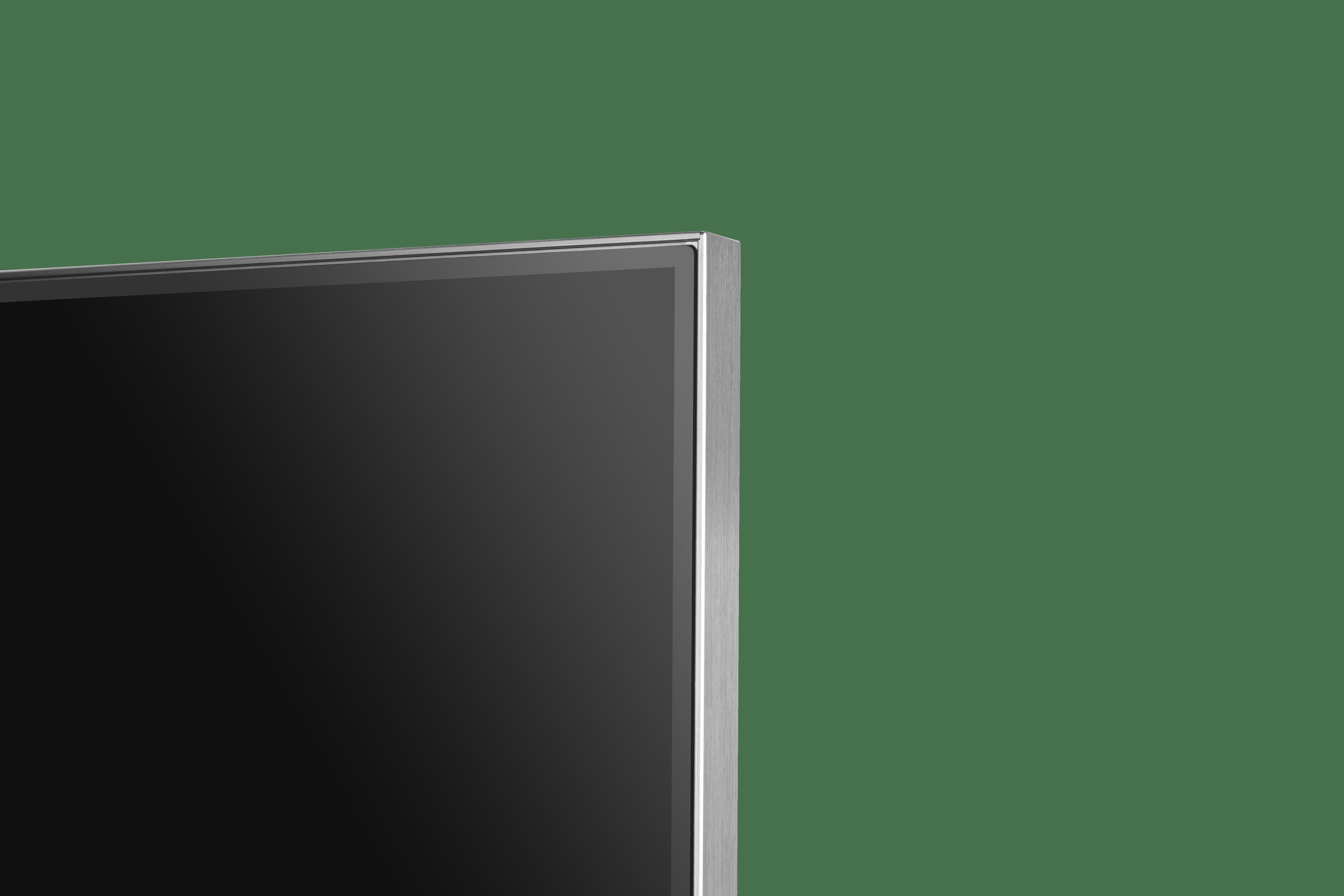 Bordure métalique du téléviseur TCL Série 6 2020.
