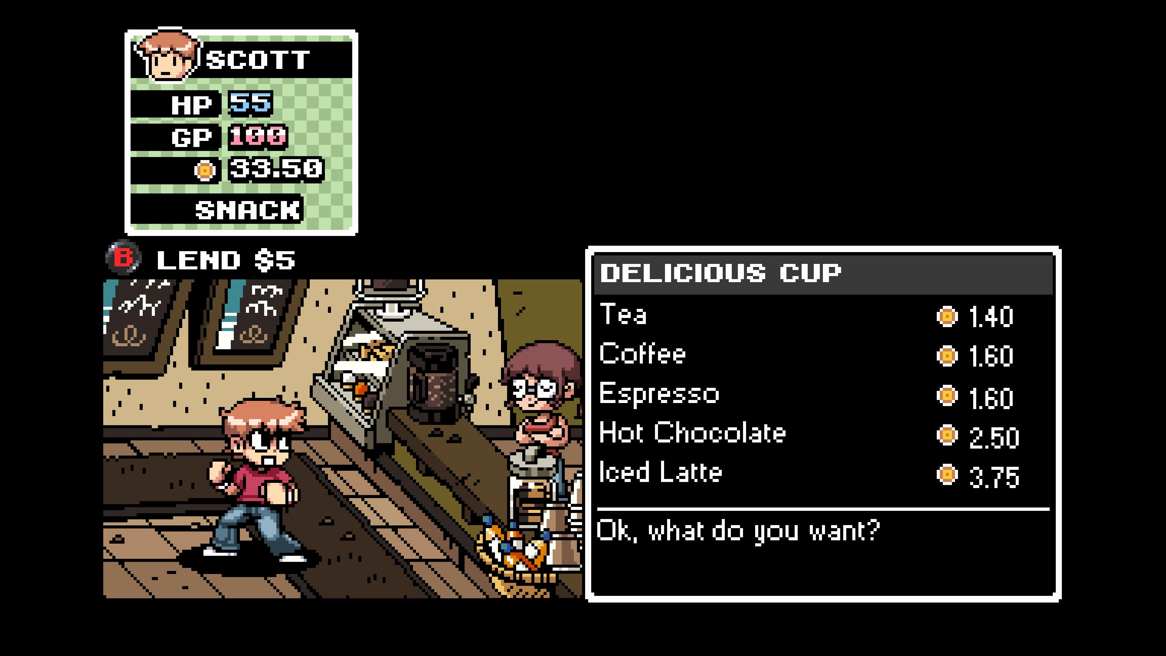 Récupérer son énergie demande de visiter un des nombreux restaurants du jeu.