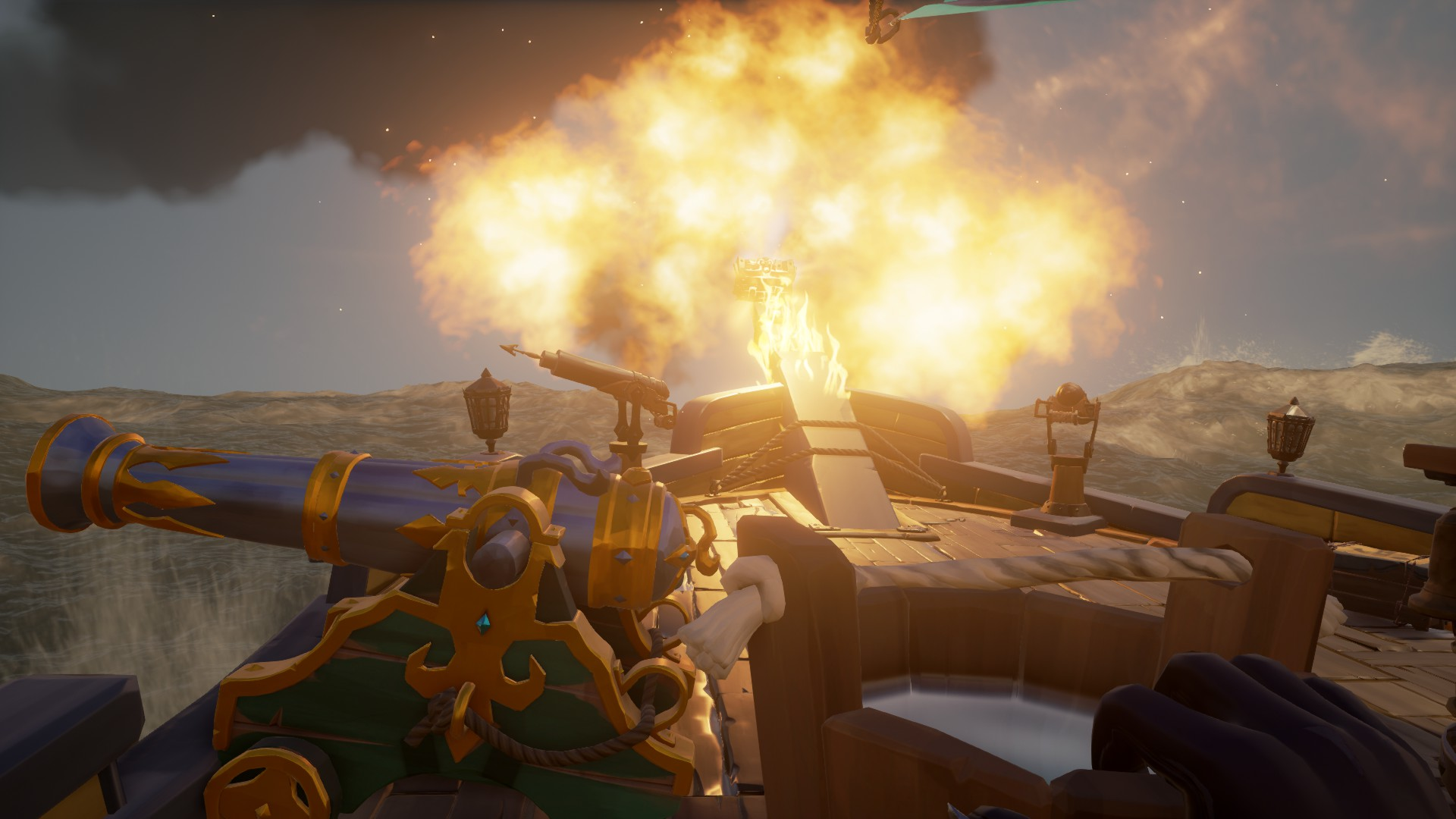 Notre vaisseau est en feu!