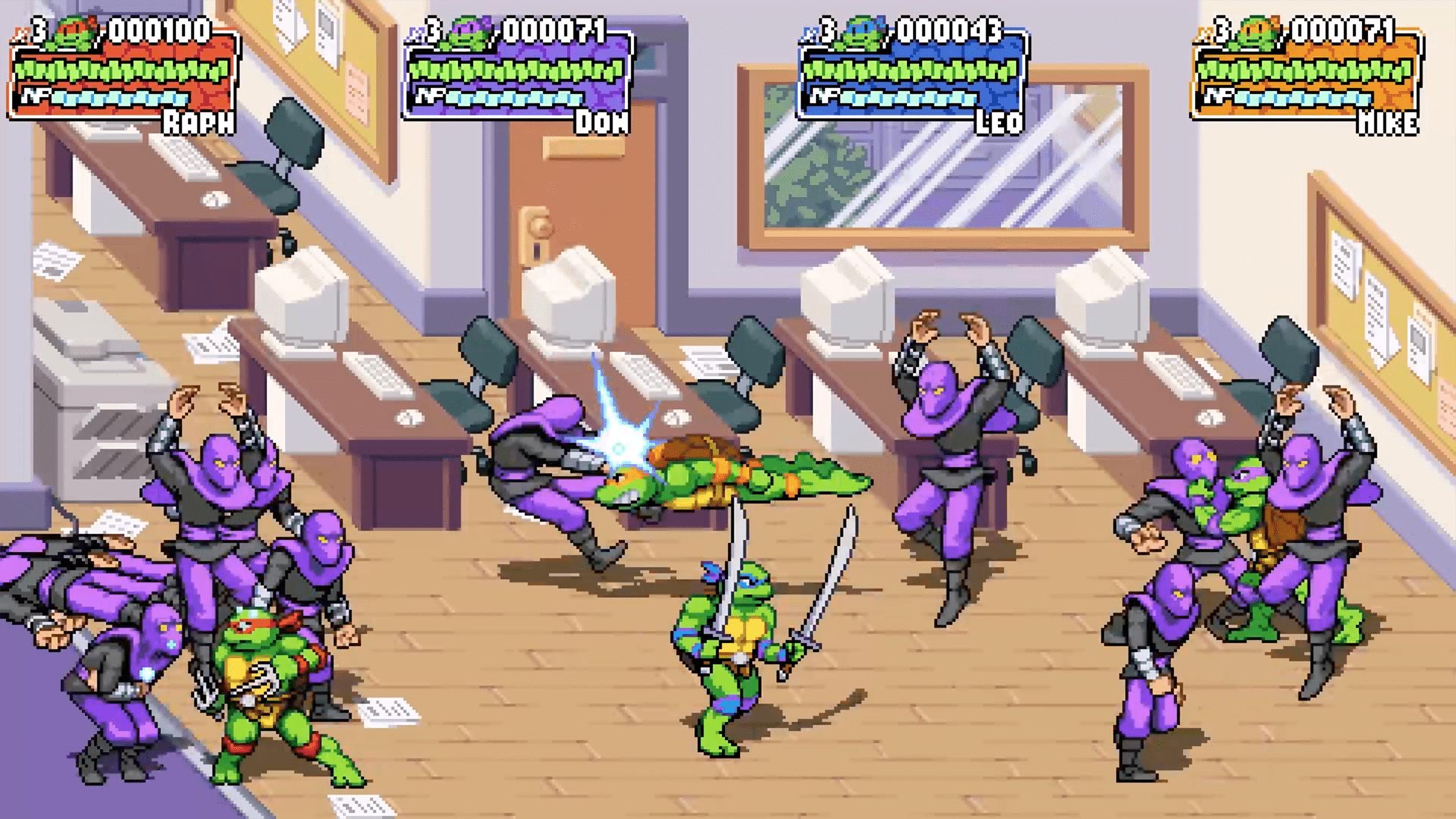 Vous et trois de vos amis pourront bientôt incarner les fameuses Tortues Ninja dand TMNT Shredder's Revenge