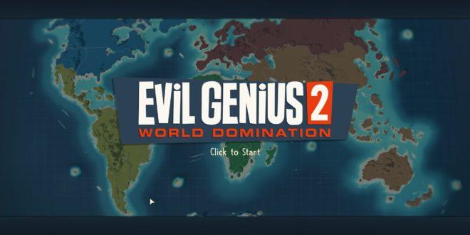 Écran principal de Evil Genius 2