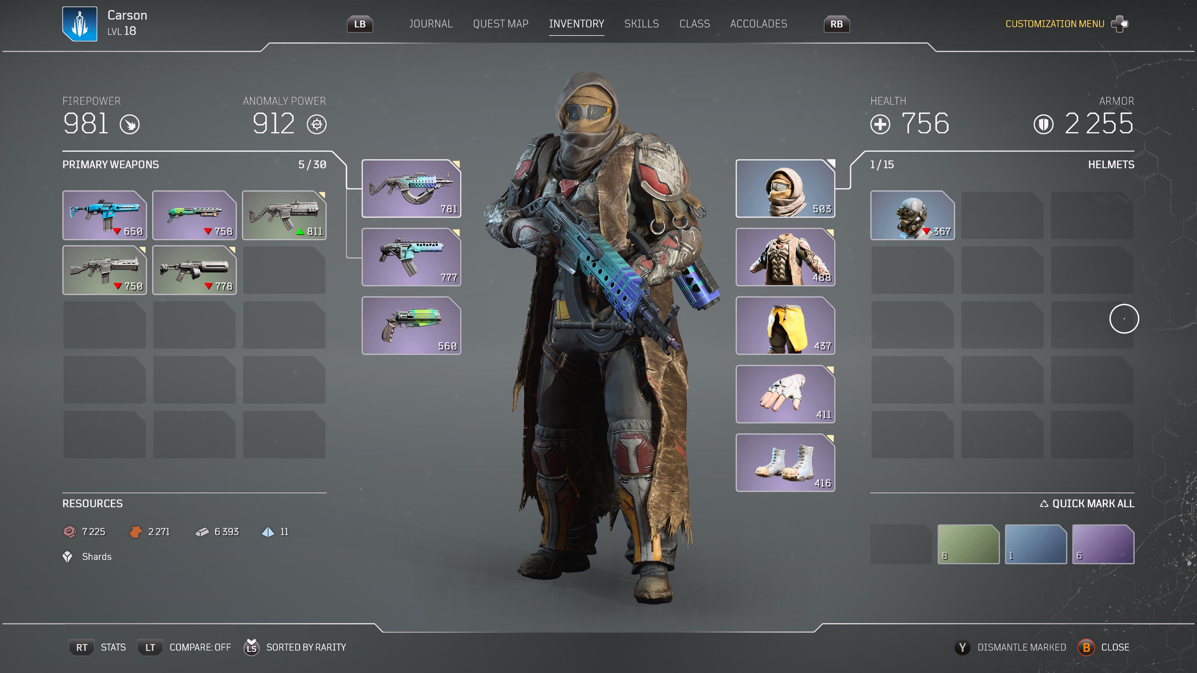 Équiper une pièce d'armure viendra changer le look de votre personnage autant dans le jeu que dans les cinématiques