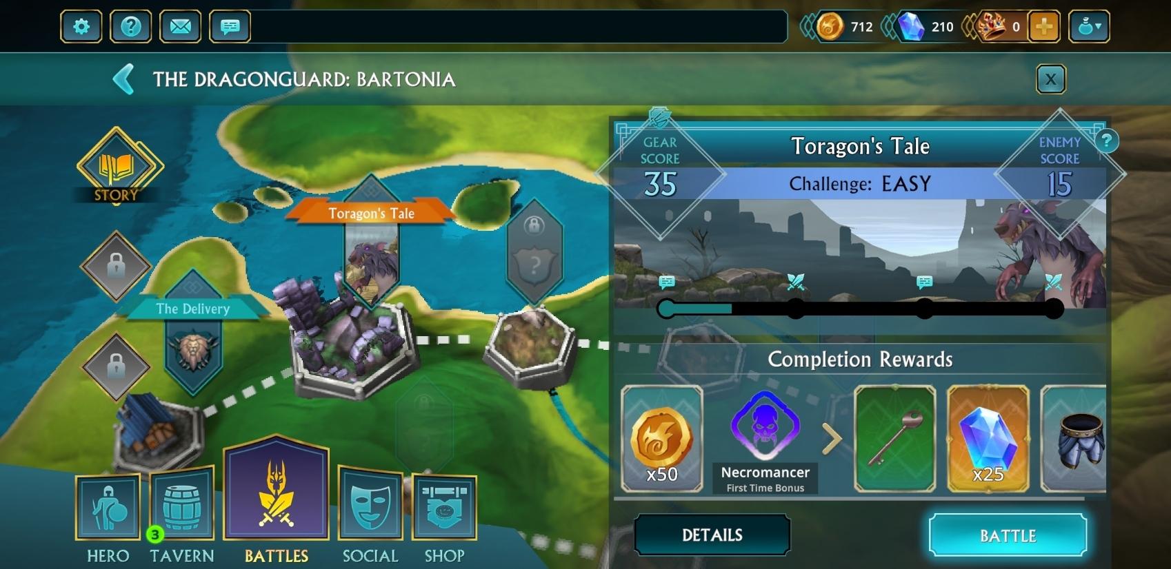 Chaque événement sur la carte du jeu comprend son lot de combats et de trésors