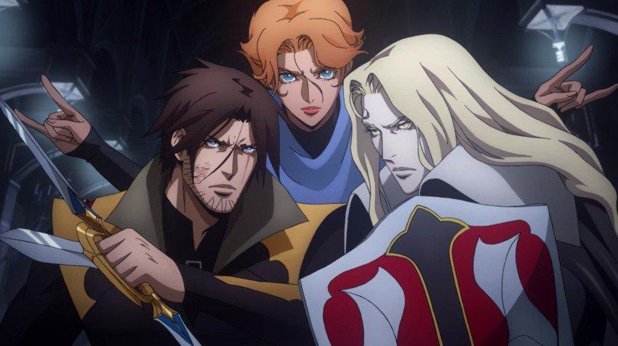 Notre trio de guerriers font équipe pour une dernière fois dans la quatrième saison de Castlevania, présentée par Netflix