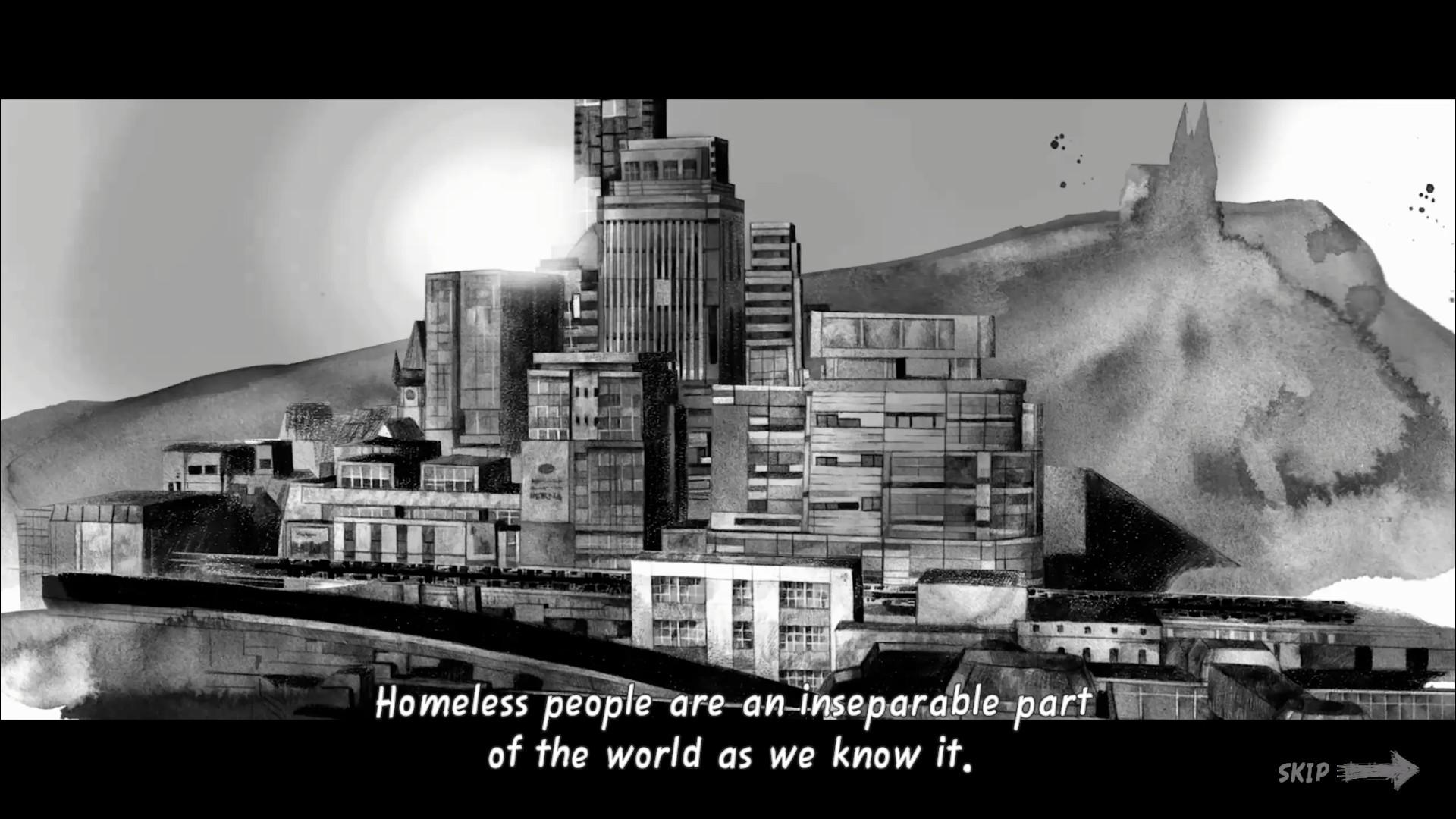 Cinématique d'introduction de Hobo: Tough Life.