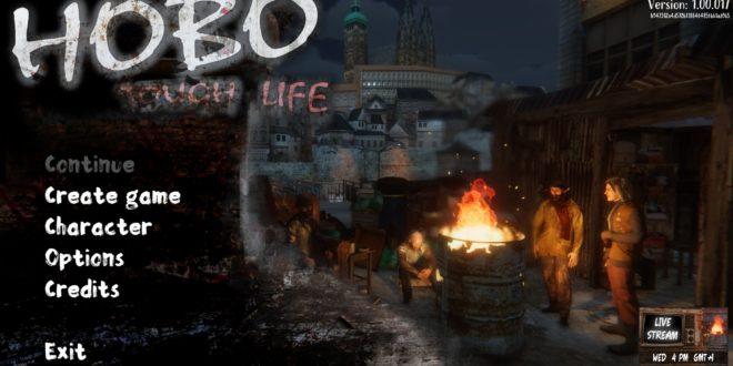 Menu principal de Hobo: Tough Life
