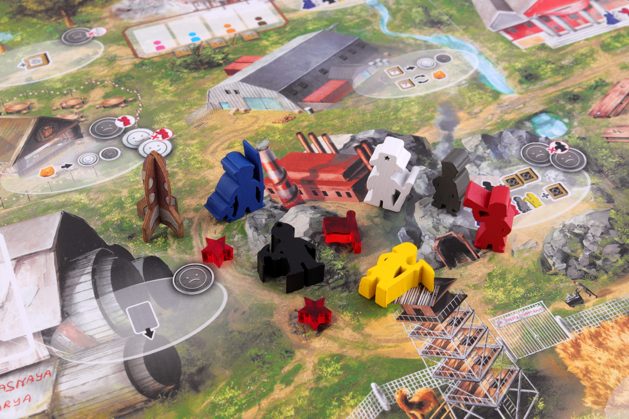 Red Outpost meeples
