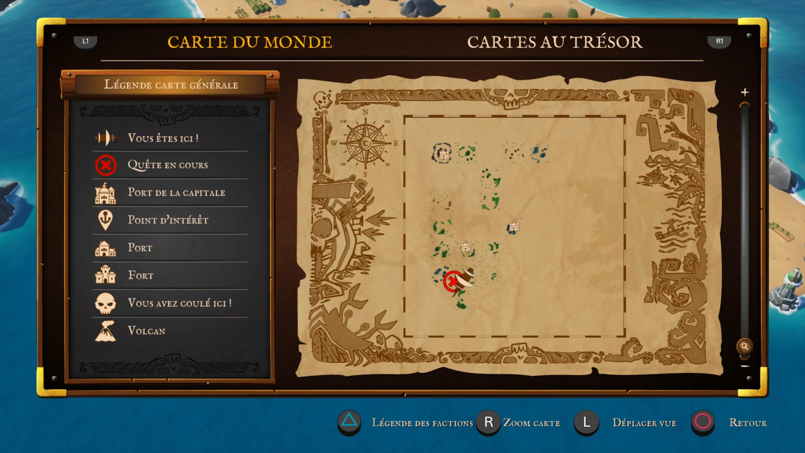 Carte du monde dans King of Seas