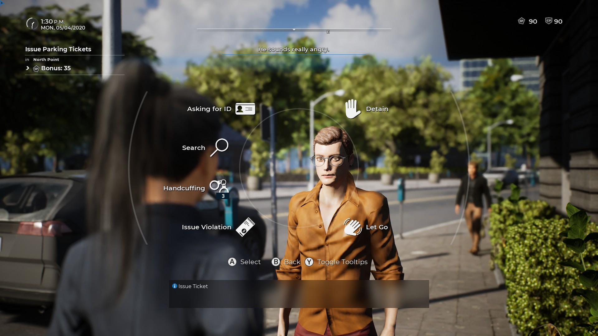 Police Simulator: Patrol Officers : Vous aurez à interagir avec des passants qui contreviennent au règlement ou qui ont été témoins d'un crime
