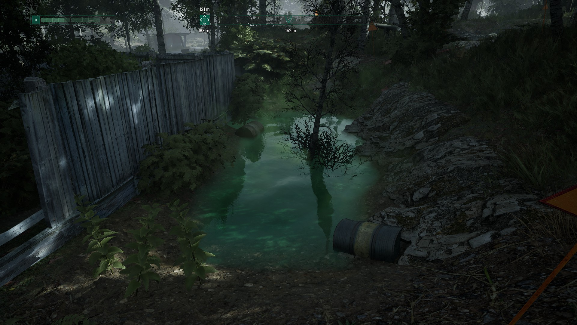L'environnement du jeu est superbe et rempli de dangers, que ce soit une patrouille ennemie ou de l'eau irradiée