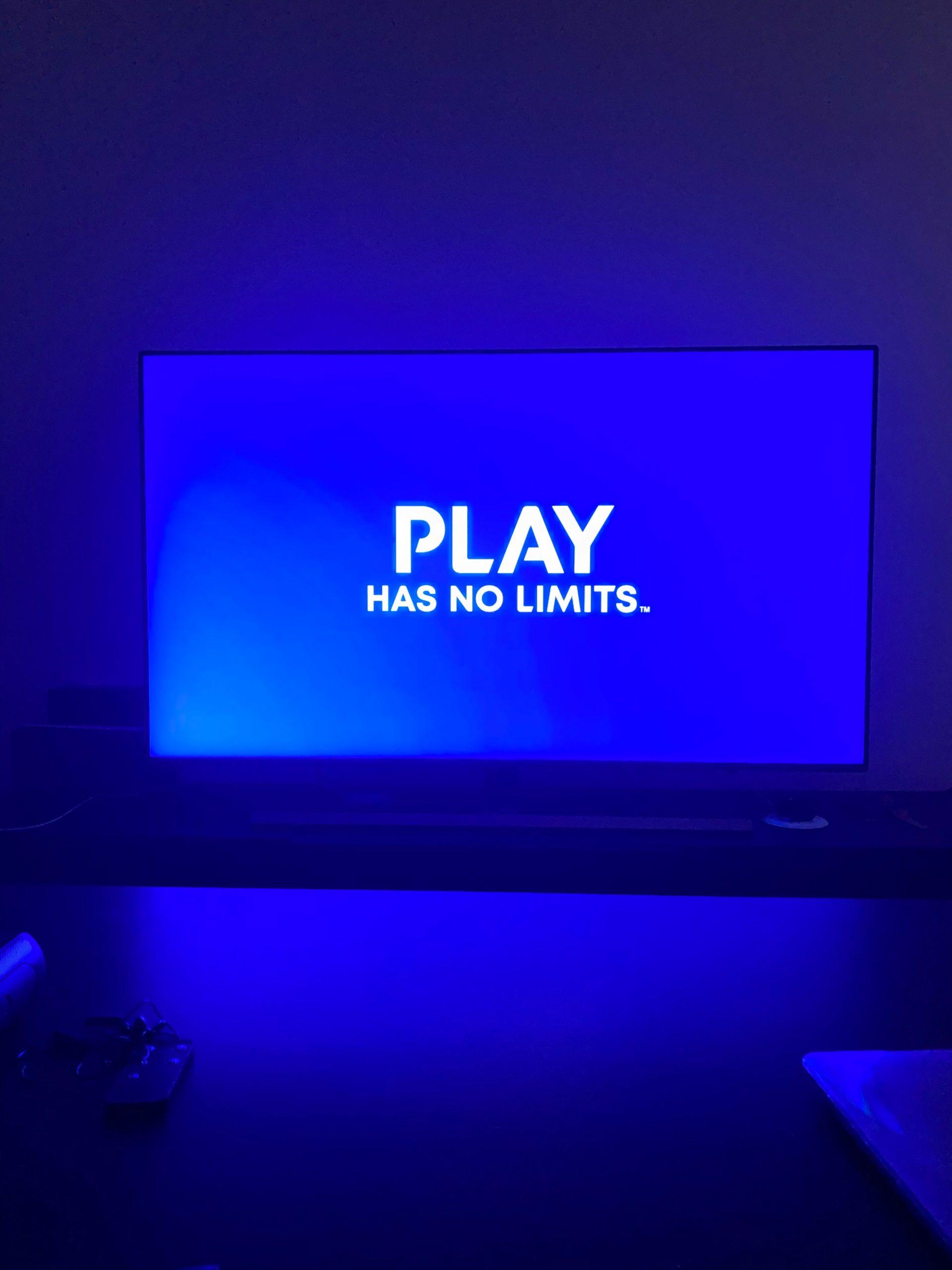a screen displaying play has no limits