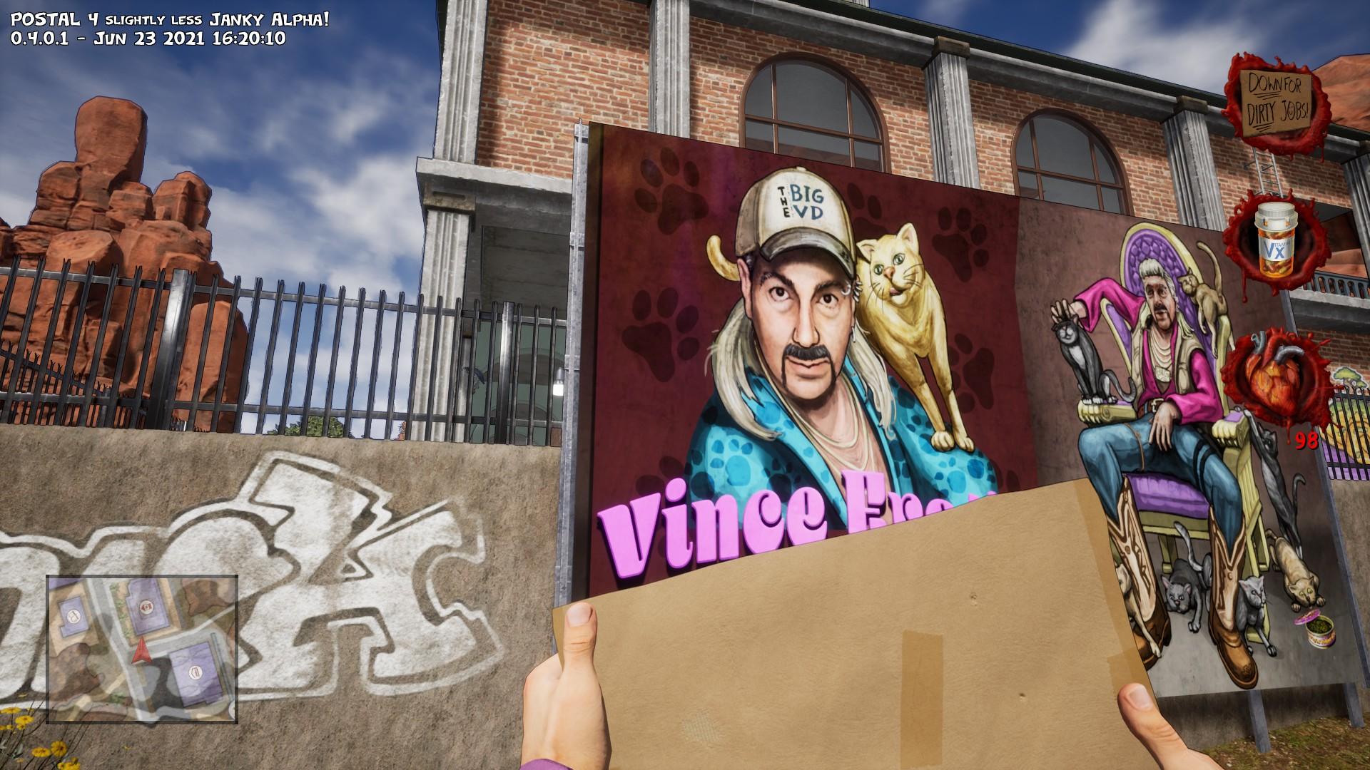 À chaque tournant, le jeu insère une référence à la culture pop, comme cette parodie du Tiger King