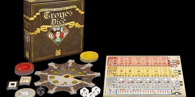 Troyes Dice: lancer les dés pendant huit journées