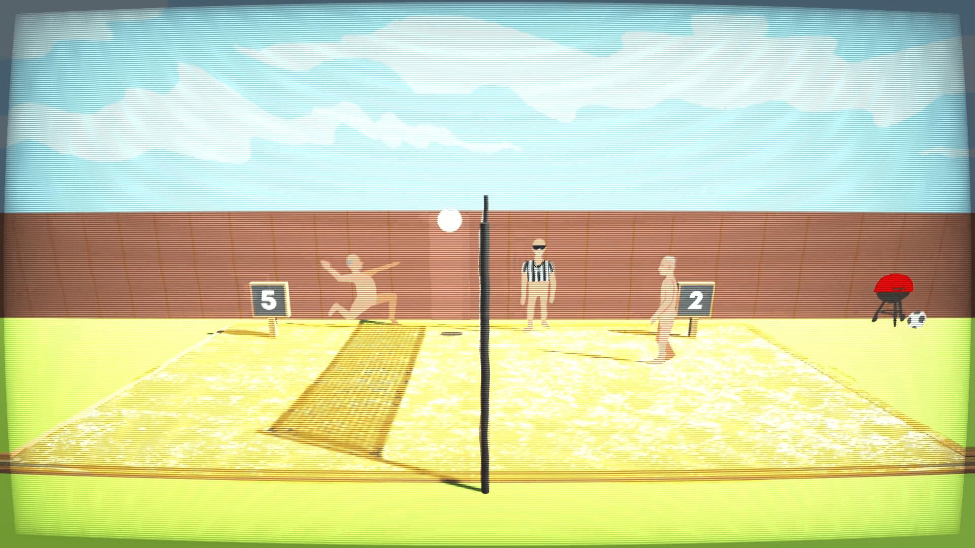 Débarquez sur les plages nudistes pour une joute amicale de volley-ball!