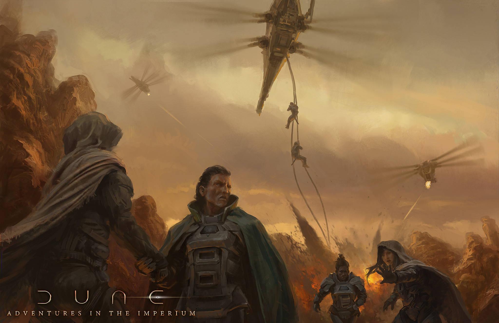 Les personnages subissent un assaut sur Arrakis.