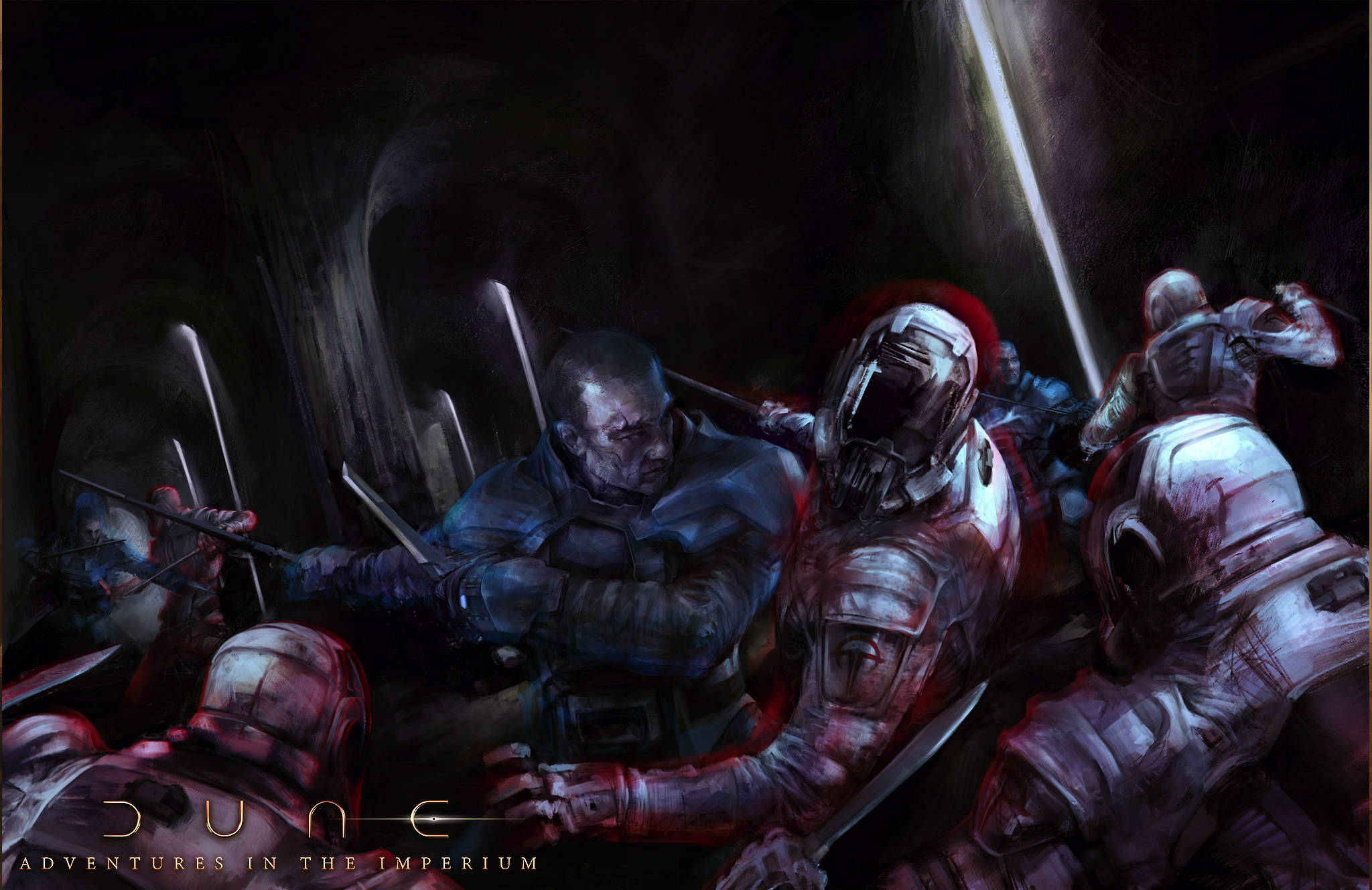 Combat dans des grottes de Dune.