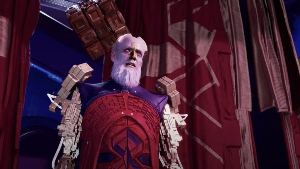 Nous avons fait la connaissance d'un des vilains principaux du jeu dans une nouvelle cinématique, le Grand Unificateur Raker