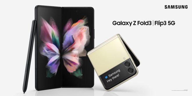 Les nouveaux Galaxy Z Flip 3 et Fold 3