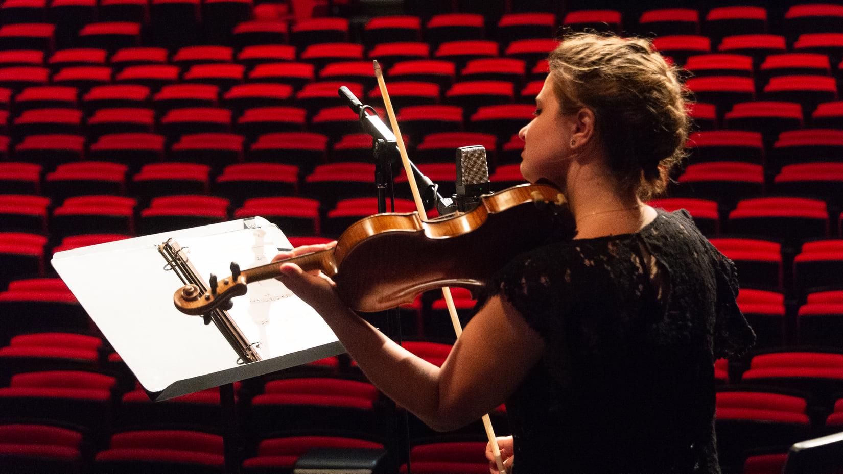 Daphnée Sincennes Richard a su nous faire vivre des émotions diverses avec son violon