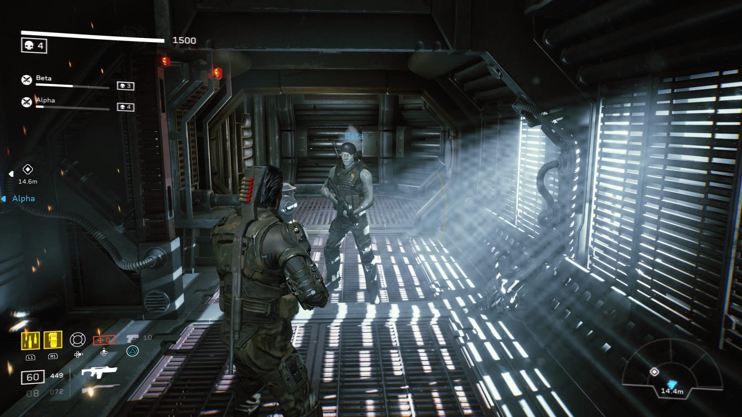 Ce corridor semble tout droit sortir du Nostromo, le vaisseau du premier film