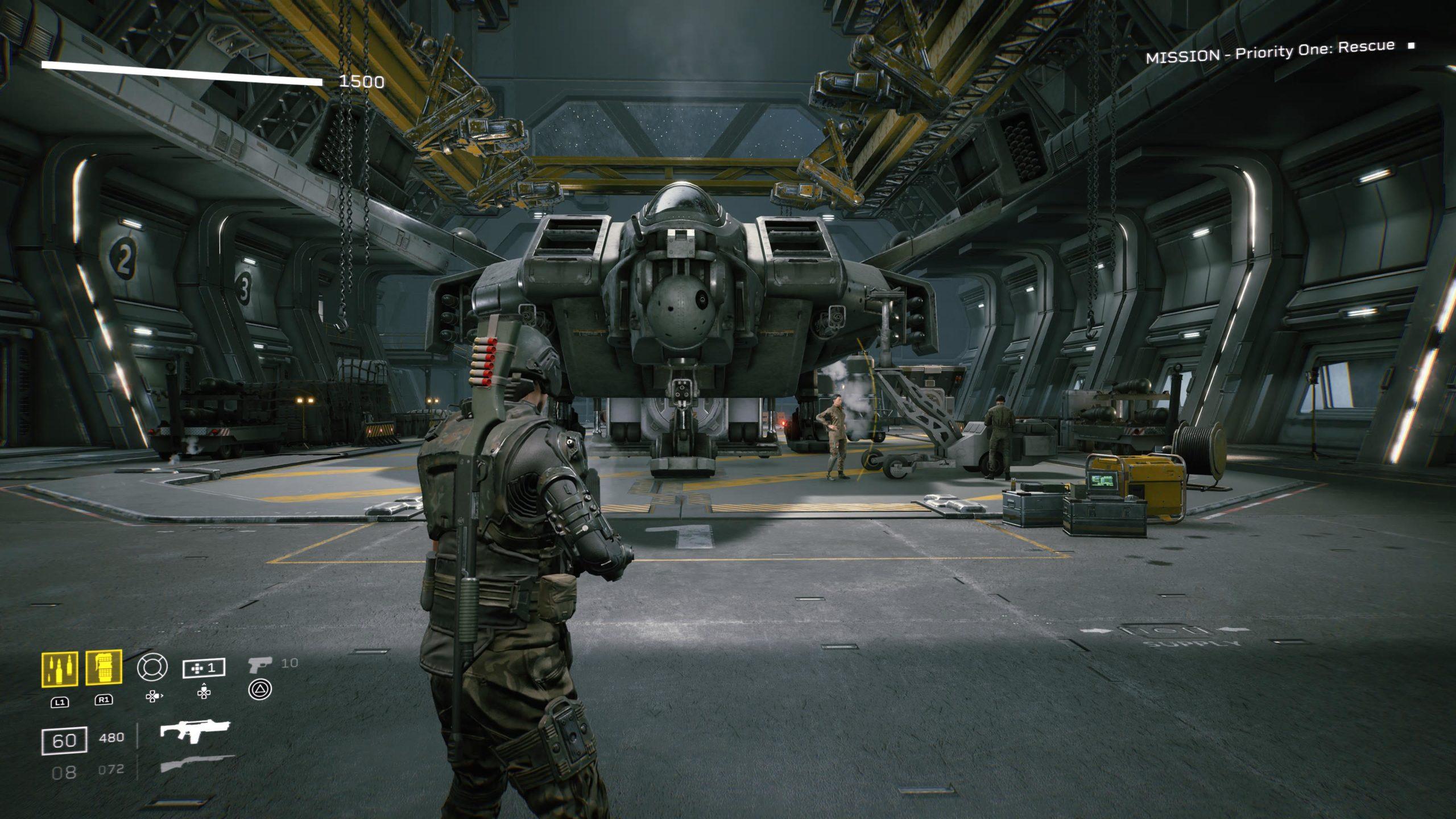 Le vaisseau de transport est une copie identique à celui dans le film Aliens