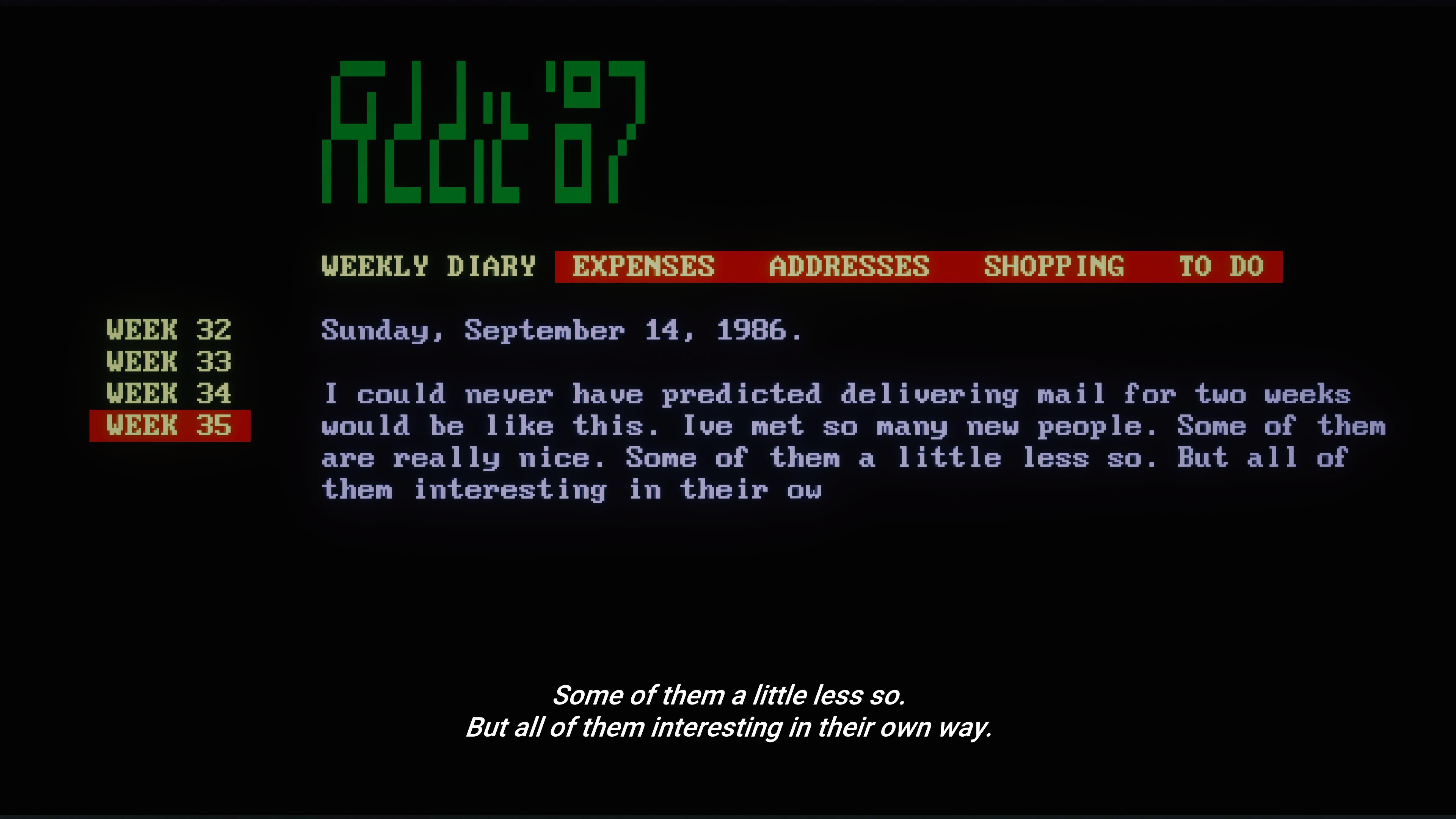 Le logiciel sur lequel travaille Meredith semble tout droit sorti d'un vieux PC des années 80